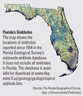 Florida Sink Hole Map.Maps Of Sinkhole Homes Sinkhole Maps In Florida And The Usa